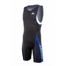 Aropec Mens Panther Blue 1 Piece Lycra Tri Suit