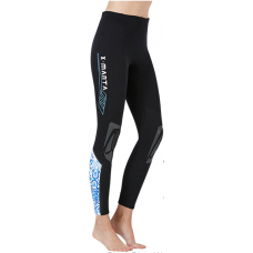 Dive & Sail 1.5mm Ladies Neoprene Leggings Blue Design