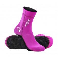 3mm Pink Neoprene Swim Socks